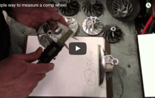 Measuring turbo compressor wheel