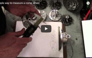 Measuring turbo compressor wheel