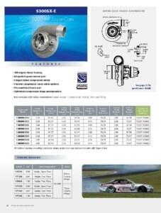 BorgWarner S300SX-E 320-1000 HP Super-Core Turbocharger Product Specification Sheet
