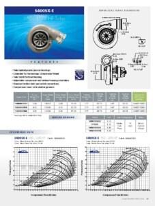 BorgWarner S400SX-E 650-1575 HP Turbocharger Product Specification Sheet