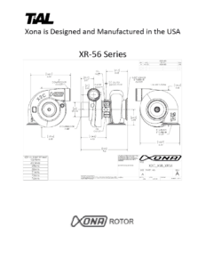 This is a screenshot of a TiAL Xona catalog page showing diagrams of the XR-56 series.